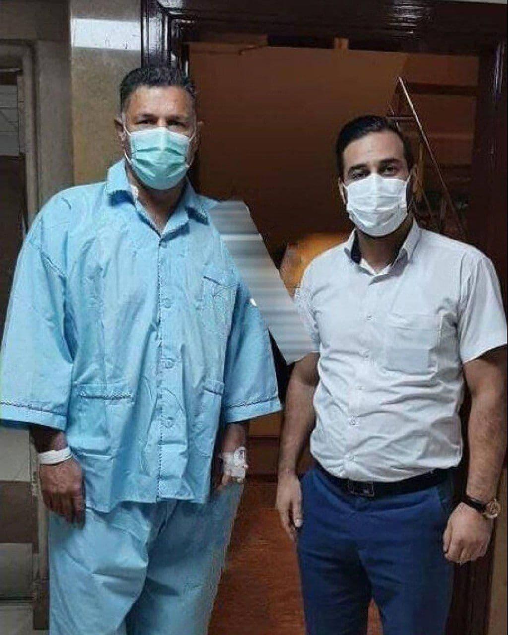 علی دایی در بیمارستان بستری شد+عکس