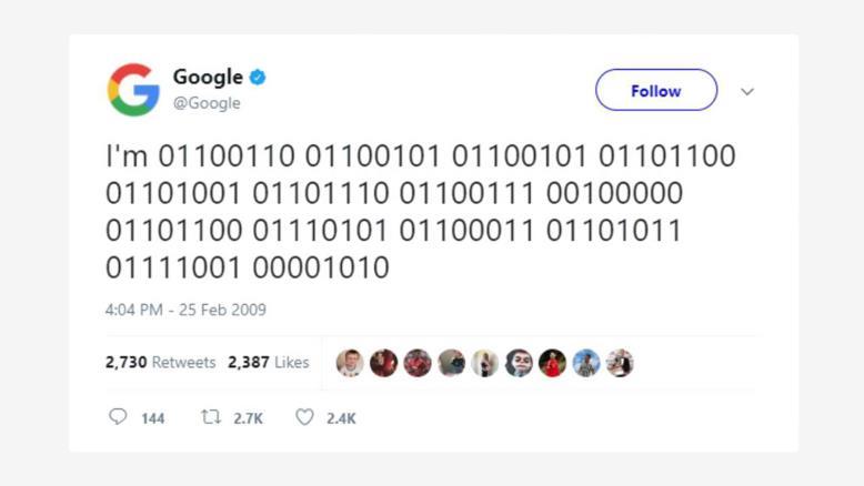 اولین توئیت گوگل در توئیتر