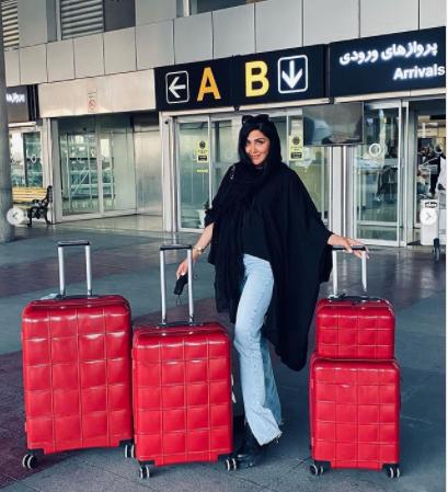 مریم معصومی در فرودگاه ایران /عکس