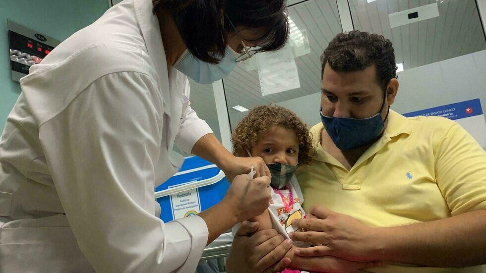 تزریق واکسن کووید ۱۹ به کودکان در کوبا