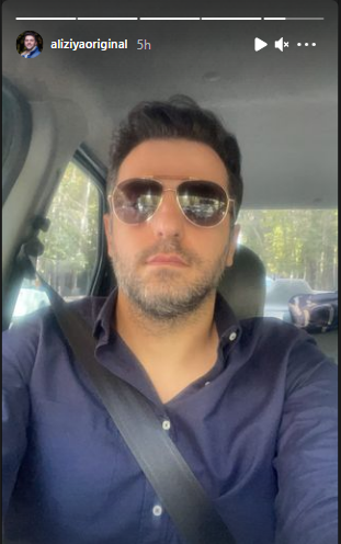 سلفی علی ضیا با عینک ریبون+ عکس
