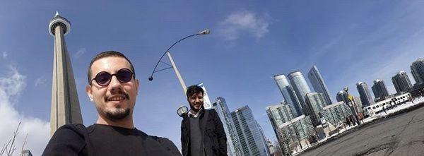 سلفی امیر کاظمی و جواد عزتی /عکس