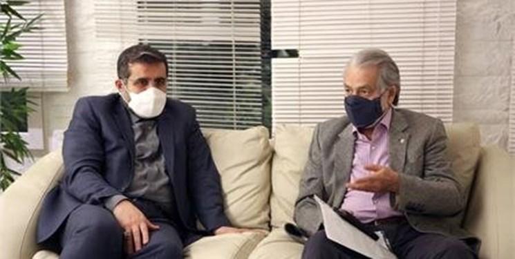 دیدار وزیر فرهنگ و ارشاد اسلامی با مجید انتظامی