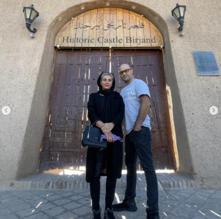 حدیثه تهرانی و همسرش در قلعه تاریخی بیرجند /عکس