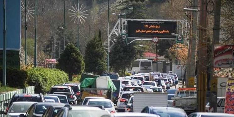 آخرین وضعیت ترافیکی جاده ها 22 شهریور/ ترافیک سنگین در آزادراه قزوین – کرج
