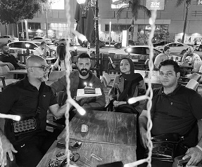 جشن تولد سامان صفاری در میان خیابان /عکس