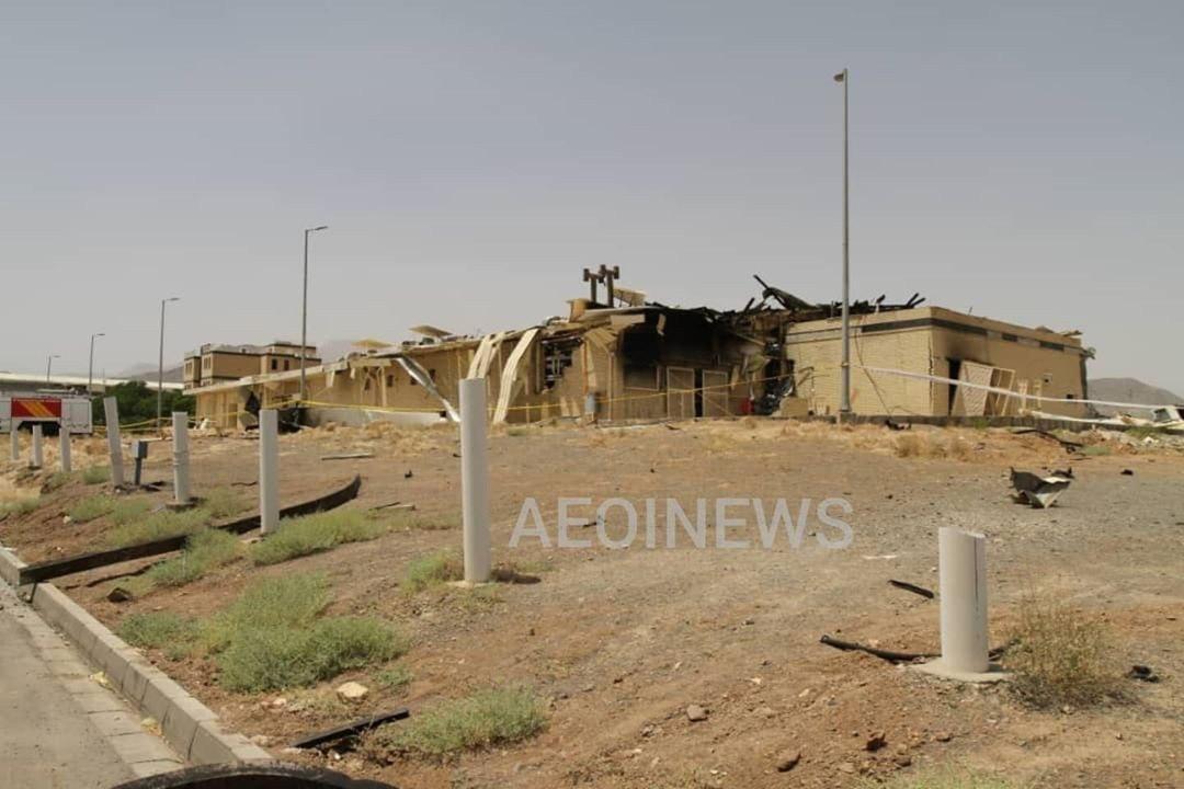 عکس انفجار سایت نطنز