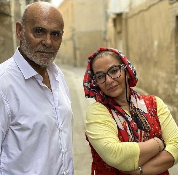 لاله صبوری در کنار جمشید هاشم پور /عکس