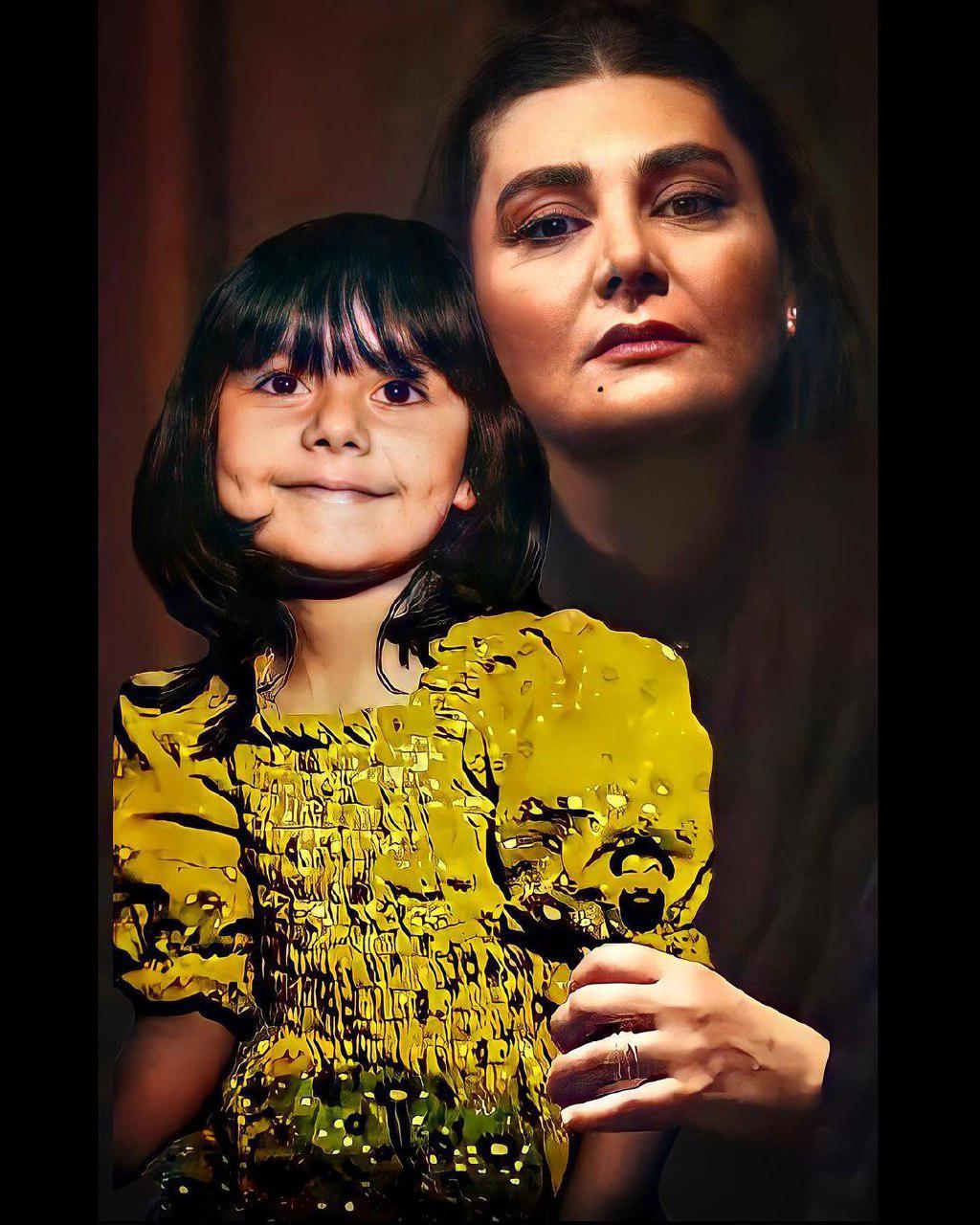 هنگامه قاضیانی در کنار کودکی اش+ عکس