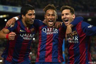 با ۱۰۲گل؛ MSN بهترین مثلثهجومی تاریخ بارسلونا