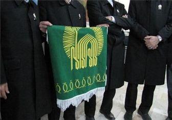 اهتراز پرچم رضوی در دانشگاه علوم انتظامی امین