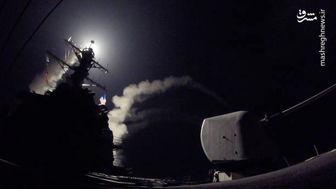 حمله موشکی ارتش آمریکا به سوریه/فیلم
