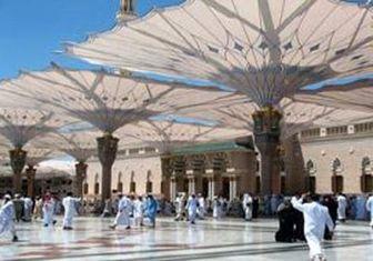 نصب چتر های برقی در حرم امیر المومنین(ع)