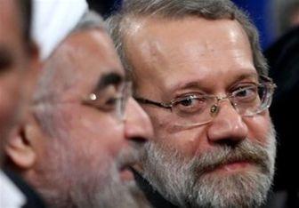 """""""لاریجانی"""" مانع سوال مجلس از """"روحانی"""" است"""
