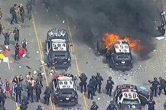 تظاهرات ضد نژادپرستی مردم  لس آنجلس