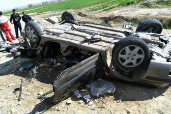 واژگونی پراید سبب فوت راننده شد