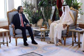 رئیس مجلس عراق به دیدار امیر قطر رفت
