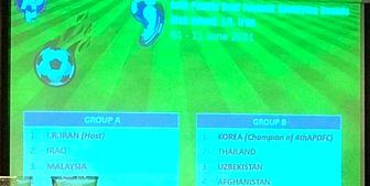 برگزاری قرعه کشی مسابقات فوتبال انتخابی المپیک ۲۰۲۲ ناشنوایان