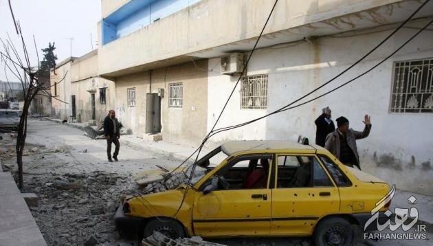 پراید جامانده داعش در کوبانی+عکس