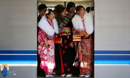 استفاده رایگان مردم ژاپن از مترو و اتوبوس به شرط پوشیدن لباس سنتی این کشور