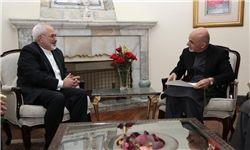 ظریف با رئیس جمهور افغانستان دیدار و گفت وگو کرد