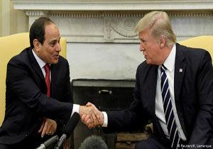 ترامپ و السیسی دستورکار گفتگوی خود را کتمان کردند