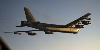 پرواز بمبافکن راهبردی آمریکا نزدیک پایگاه هوایی روسیه در سوریه