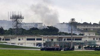 آتش سوزی بزرگترین پایگاه هوایی آمریکا