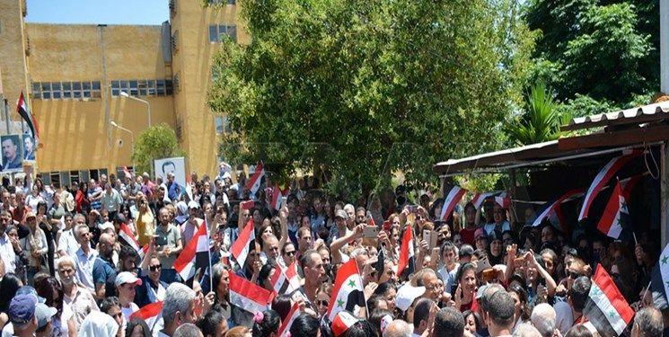 تصویر از حمایت مردم سوریه از برگزاری انتخابات
