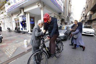 دوچرخه سواری مدیران رسانهها با شهردار تهران