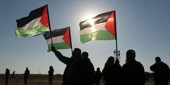 تظاهرات در کرانه باختری در محکومیت شهرکسازی صهیونیستها