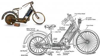 اولین موتورسیکلت چه شکلی بود؟ / عکس