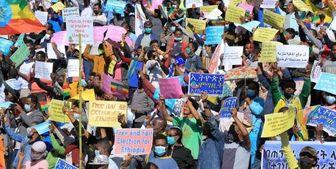 دلیل تظاهرات دهها هزار نفری علیه «جو بایدن» در پایتخت اتیوپی