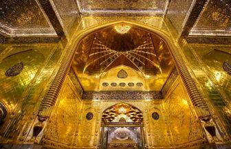 تصاویری زیبای از ایوان طلای حرم حضرت عباس(ع)