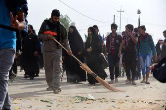 """جهادی به نام """"حریم پاک"""" در مسیر بهشتی اربعین/تصاویر"""
