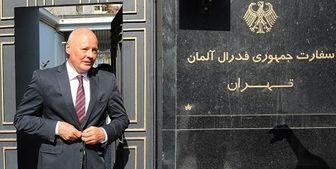 پایان ماموریت سفیر آلمان در تهران سوار بر نیسان+ عکس
