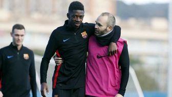 بازگشت عثمان دمبله به تمرینات بارسلونا