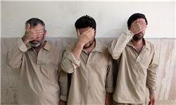 دستگیری اعضای باند ۳ نفره زورگیری