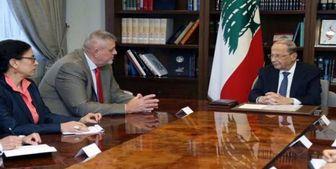 دفاع میشل عون از عملیات حزبالله در دیدار با نماینده سازمان ملل