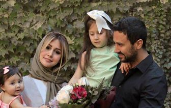 سلفی جدید شاهرخ استخری و همسرش  عکس