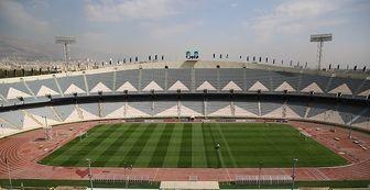 نمایی از ورزشگاه آزادی ۲۴ ساعت مانده به بازی ایران و کامبوج