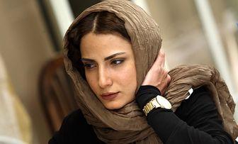 سمیرا حسن پور با برگ هایی بر لباسش /عکس