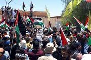 تجمع و حمایت مردمی در دمشق از فلسطین