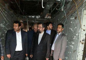 محسن رضایی از محل حادثه تروریستی در ساختمان مجلس بازدید کرد/ عکس