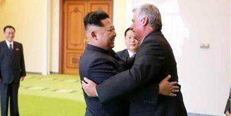 دیدار رئیسجمهور کوبا در پیونگ یانگ با رهبر کره شمالی