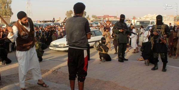 شلاق زدن جوان عراقی توسط داعش+تصاویر