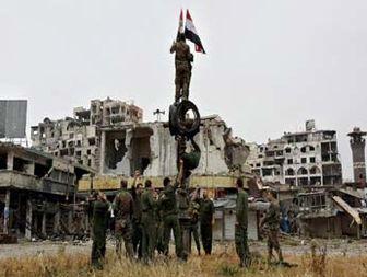 برافراشته شدن پرچم سوریه در حمص