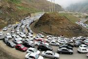 ممنوع شدن تردد خودروها از محور کرج به چالوس
