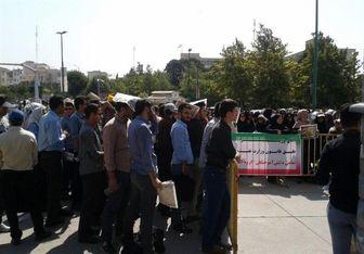 پرسنل مخابرات در مقابل مجلس تجمع کردند