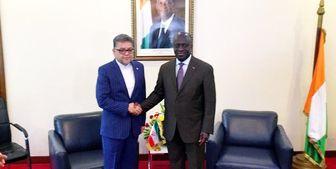 سفیر جدید ایران رونوشت استوارنامه خود را تقدیم وزیر خارجه ساحل عاج کرد